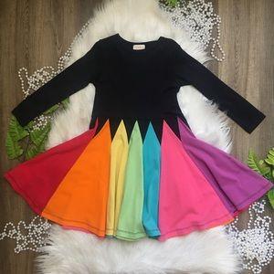 Lemon Loves Time Girls Rainbow Skirt